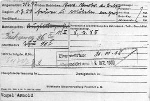 Judenhaus Wiesbaden Bahnhofstr. 25, Emmy Vogel, Arnold Vogel