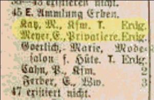 Elise Katz, Amalie Katz, Judenhaus Wiesbaden, Hallgarter Str. 6