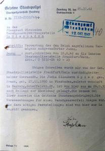 Lizzi Spier, Albert Frank, Judenhaus Alexandrastr. 6 Wiesbaden