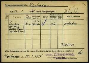 Rosa Landau, Rosa Stern, Rosa Sender, Judenhaus Wiesbaden