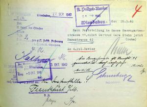 Gertrud Stein,Isaak Stein, KLara Stein Hermann, Anna Stein, Auguste Stein, Ida Stein, Judenhaus Wiesbaden, Herrngartenstr. 11,