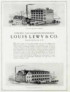 wo Julius Hirsch Mitinhaber der recht bedeutenden Chemnitzer Strumpf- und Handschuhfabrik 'Louis Lewy & Co.' war