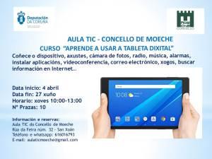 """Novo curso en abril   """"Aprender a usar a tableta dixital"""""""