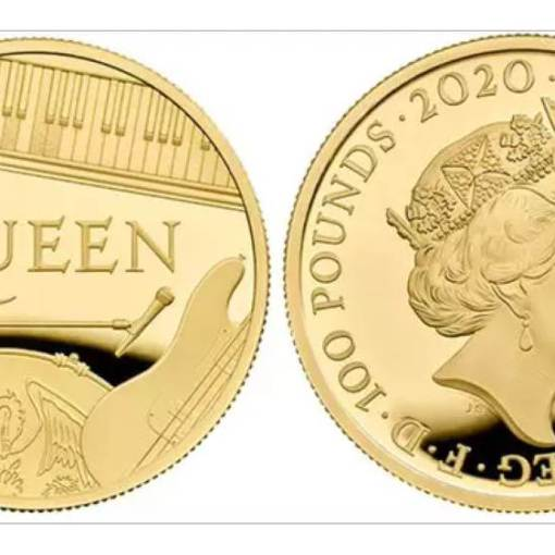 Moeda Comemorativa da Banda Queen e Rainha Elizabeth II