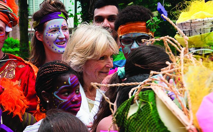 Prinses Irene viert de natuur in Moerwijk