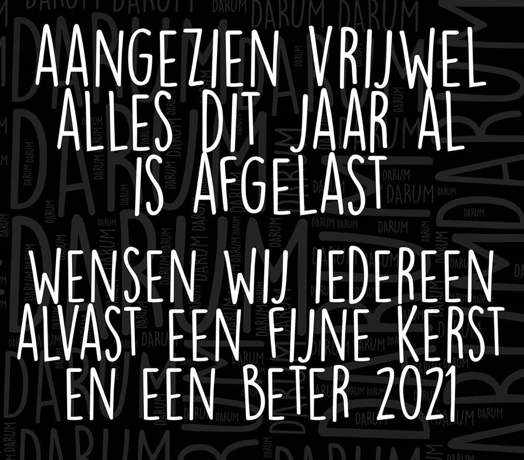 Fijne kerst en een corona vrij nieuwjaar Moerwijk!