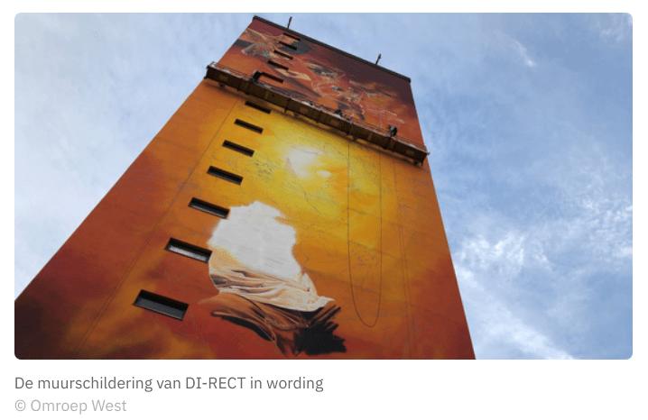 Grootste muurschildering van Nederland in Moerwijk