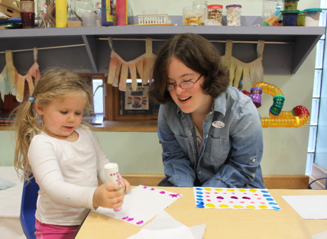 Photo: Mary, a preschool graduate of the Edgar L. and Rheta A. Berkley Child and Family Development Center, has chosen early childhood education as her life work.