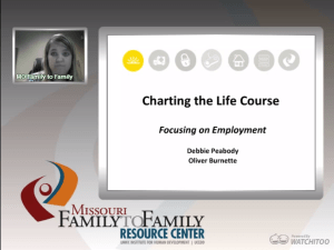 Screenshot: Focusing on Employment LifeCourse webinar screen