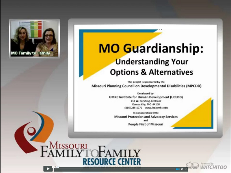 Screenshot: MO Guardianship webinar screen