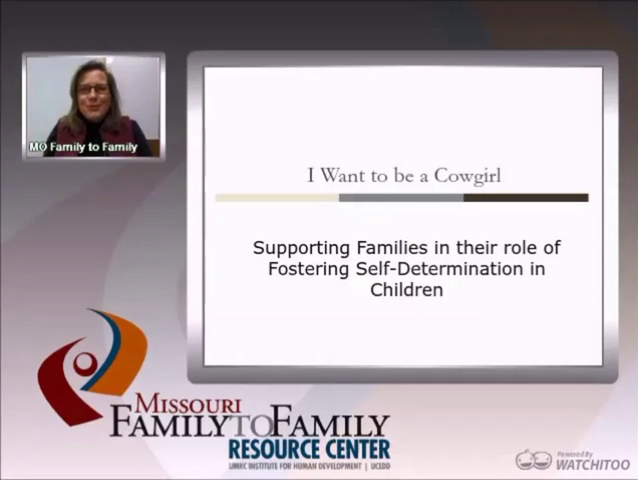 Graphic: Screenshot of Supporting Families to Foster Self-Determination webinar