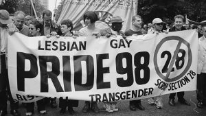 Gay Pride protest against Section 28