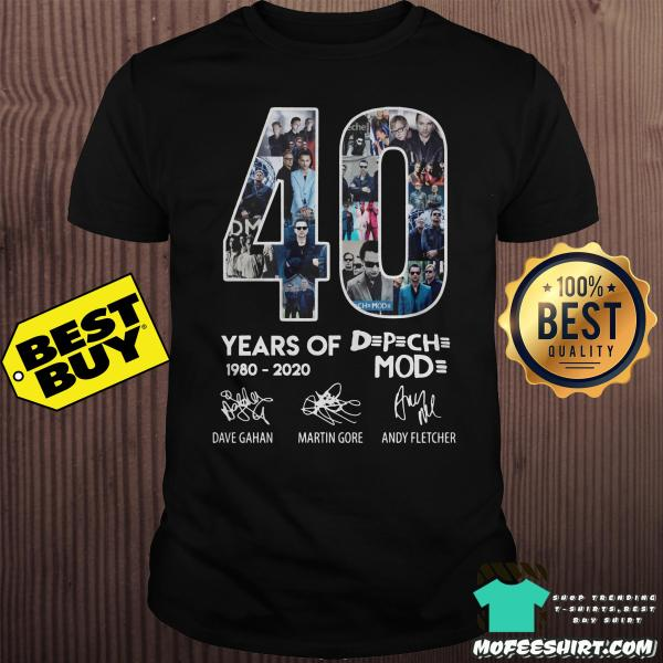 40 year of Depeche Mode 1980 - 2020 shirt