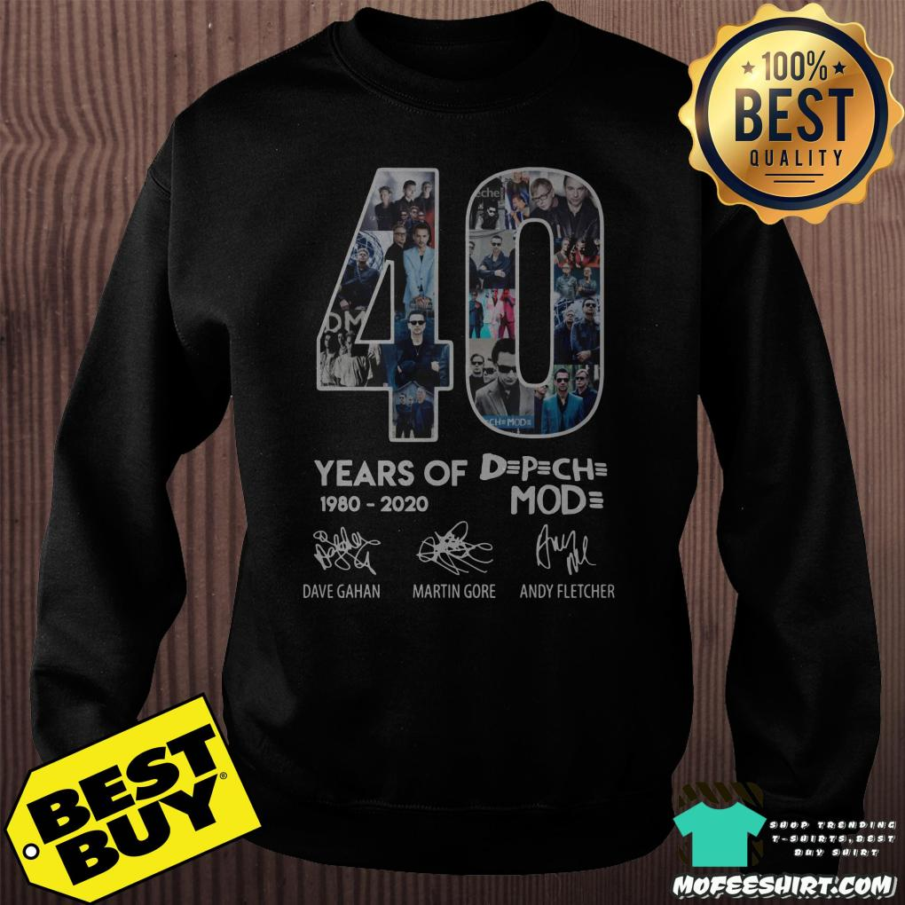 40 year of depeche mode 1980 2020 sweatshirt - 40 year of Depeche Mode 1980 - 2020 shirt