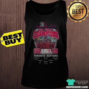 2019 NBA Finals Champions Toronto Raptors tank top