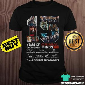 15 years of Criminal Minds 2005-2020 thank you for the memories signature shirt