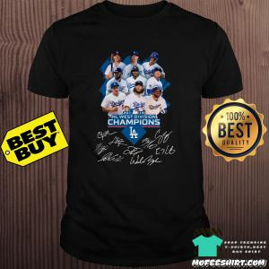 2019 NL West Division Champions Los Angeles Dodgers Signatures shirt