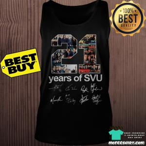 21 years of SVU Signatures shirt