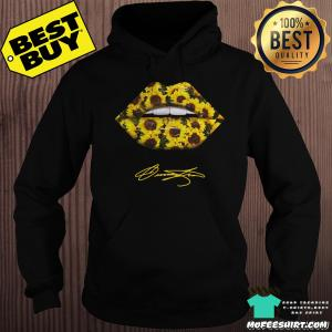 Lips Mouth Sunflower Signatures hoodie