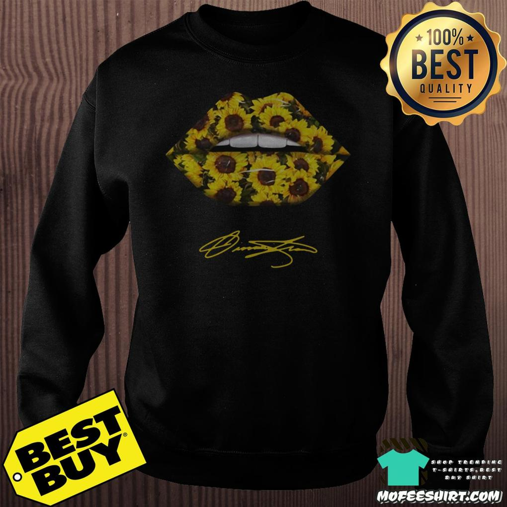 lips mouth sunflower signatures sweatshirt -  Lips Mouth Sunflower Signatures shirt