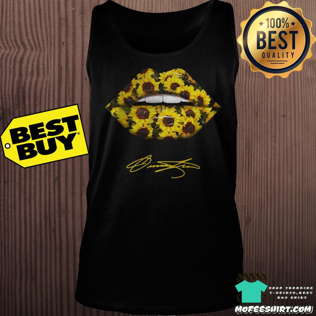 lips mouth sunflower signatures tank top - Lips Mouth Sunflower Signatures shirt