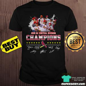 2019 NL Central Division Champions St Louis Cardinals signatures shirt