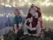 Meeting Santa at Greendykes Early Years Centre.