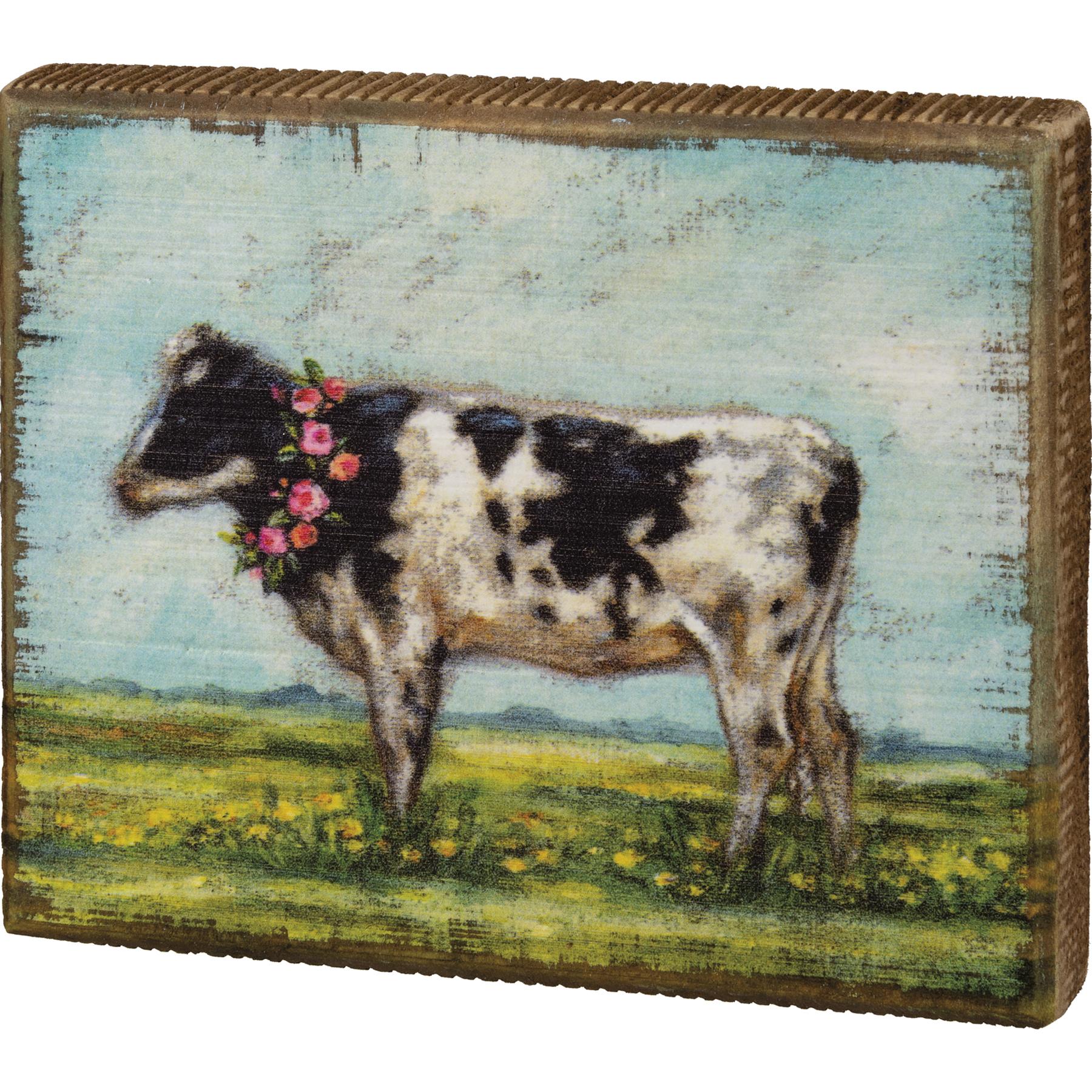 Block Sign-Cow Wreath