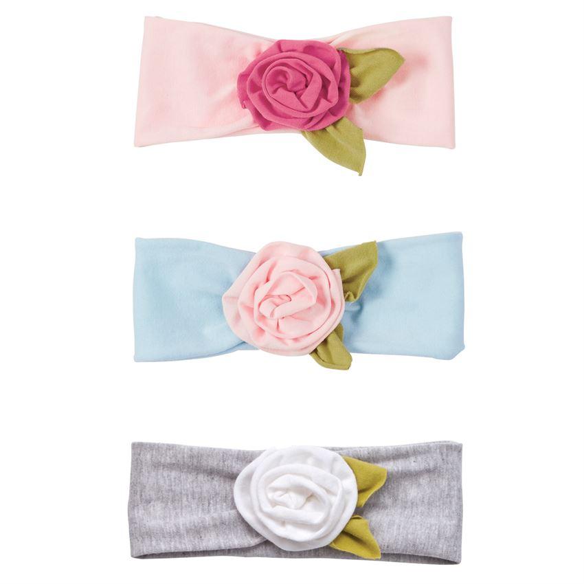 Headwrap-Gray Flower