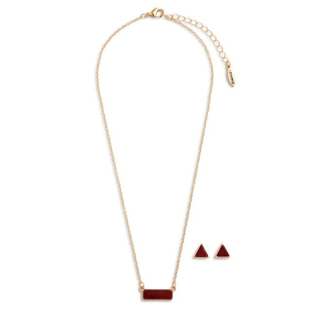 Necklace & Earring Set-January