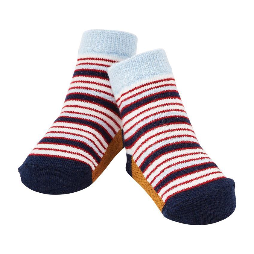 Socks-Blue & Red Stripe