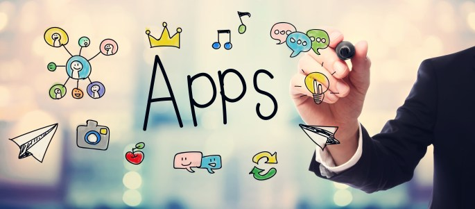 Businessman drawing APPS concept