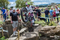 Becky Cook during qualification laps at North Berks SuperTrial – NATIONAL Championship 2013