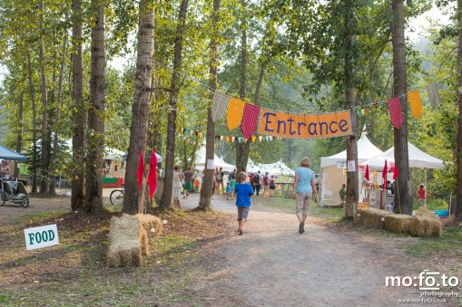 Entrance to Wapiti Festival 2014- 9th August 2014