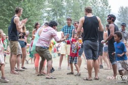 High Five during Fast Romantics at Wapiti Festival 2014- 9th August 2014