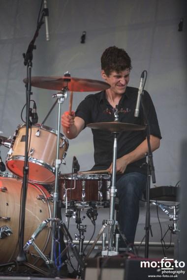 Drummer, Alan Reain of Fast Romantics at Wapiti Festival 2014- 9th August 2014