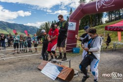 Elite Mens Podium; Celebrating with champagne - BC Cup at Fernie Alpine Resort - 31st August 2014; 1st Dean Tennant, 2nd Adriano Digiacinto, 3rd Bas Steenbergen, 4th Kirk McDowall; 5th Guy Gibbs