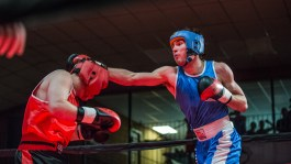 Judgement Night - Fernie Community Centre Boxing Charity Event In Aid of Smiles for Shyanne - 7th February 2015 - Kurt Saari Vs Arthur Stol