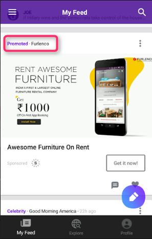 Yahoo Newsroom ads