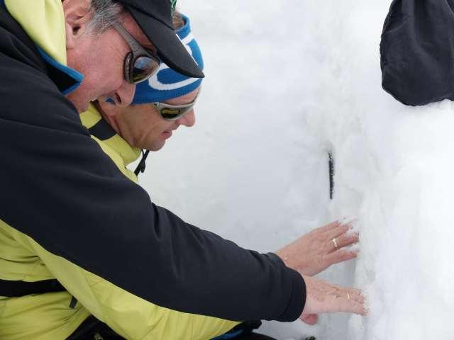 Patrick Nairz, Rudi Mair, snow profile, Mogasi
