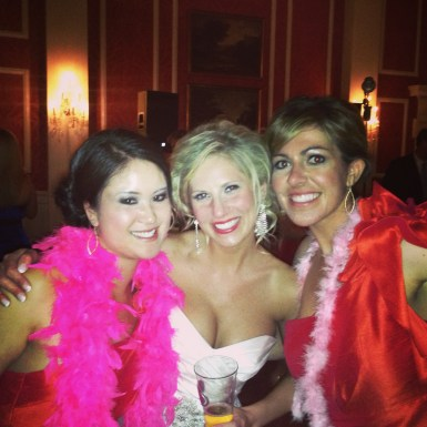 Two of my best friends, Lindsay and Kea, at Kea's wedding in April of 2013.