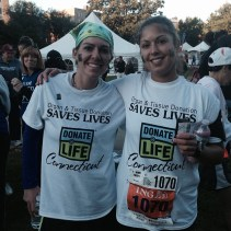 My sister Desiree ran her first full marathon at the ING Hartford Marathon and I ran the 5K (well I meant to run the 5K even though I ended up on the half marathon for a bit by accident). Support Donate Life!
