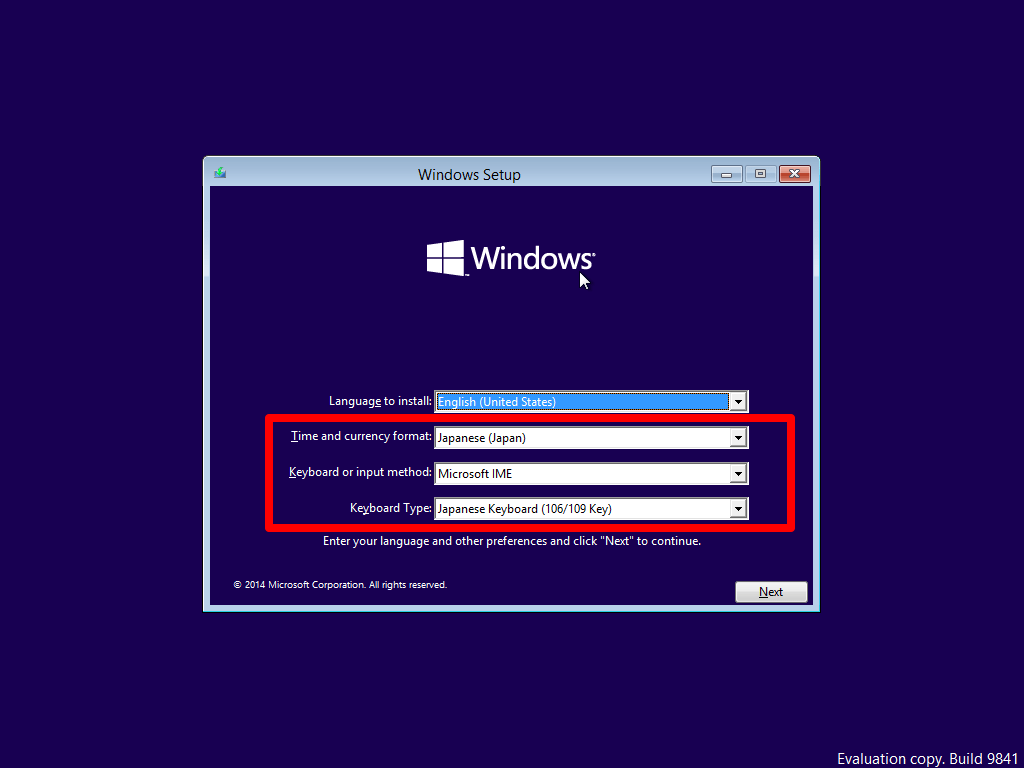 Windows10 Technical Preview_install-language