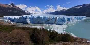 overall view of the Glacier Perito Moreno