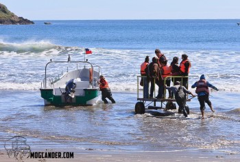 When you don't have a jetty, this is how to get passengers to your boat.
