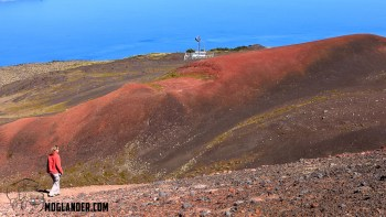 The colors on the lava fields around Osorno are stunning