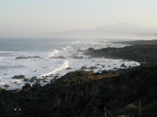 Early morning sea mist on the Pacific coast of Chile