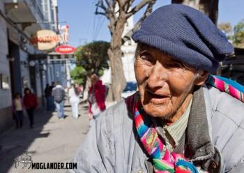 Street vendor in Sucre, Bolivia