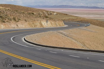 Great road from Potosi to Uyuni