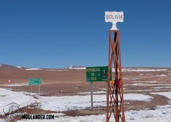 Border post between Bolivia and Peru